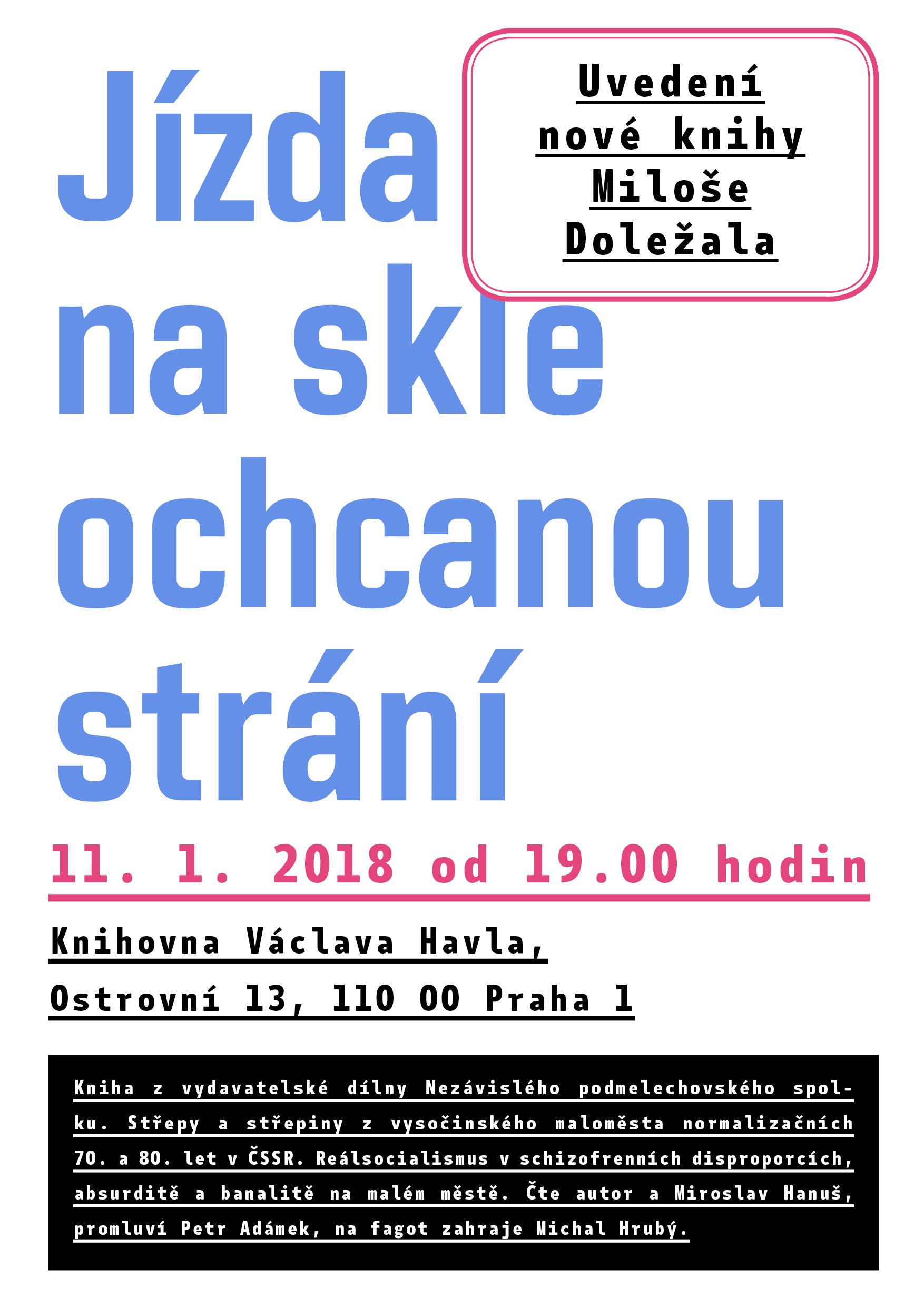 Uvedení nové knihy Miloše Doležala