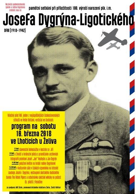 Pamětní setkání při příležitosti 100. výročí narození plk.i.m. Josefa Dygrýna - Ligotického