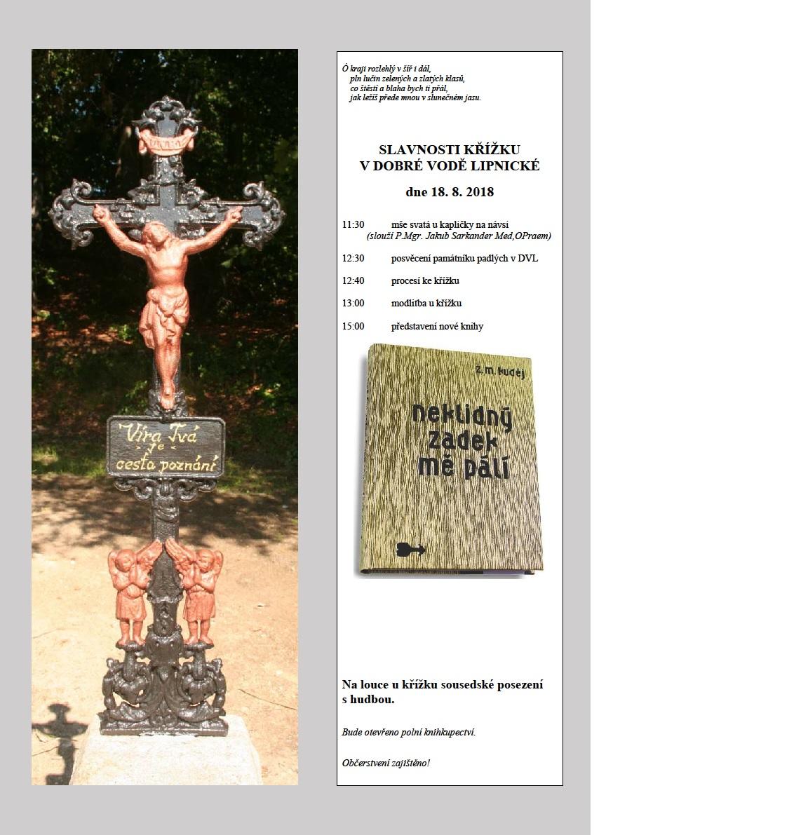 Slavnosti křížku v Dobré Vodě Lipnické